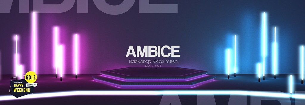 [AMBICE] – Neon Stage Backdrop