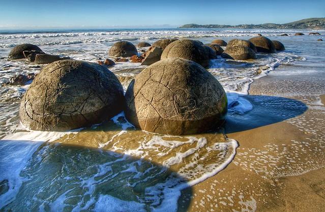 The Moeraki Boulders.