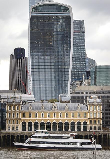 Thames river side, London