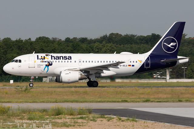D-AILU Lufthansa Airbus A319-114 painted in 'Lu' special colours (FRA - EDDF - Frankfurt)