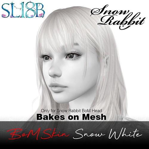 Snow Rabbit SL18B - Snow White skin