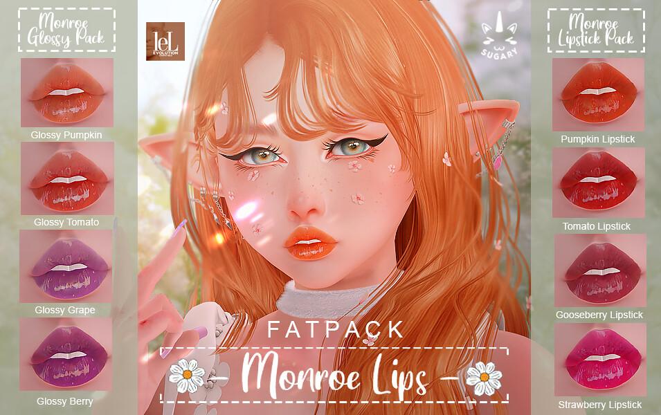✿{SUGARY} Monroe Lips Pack – Lelutka Evo✿