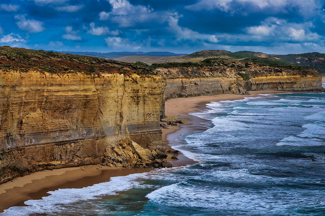 The towering cliffs near the 12 Apostles
