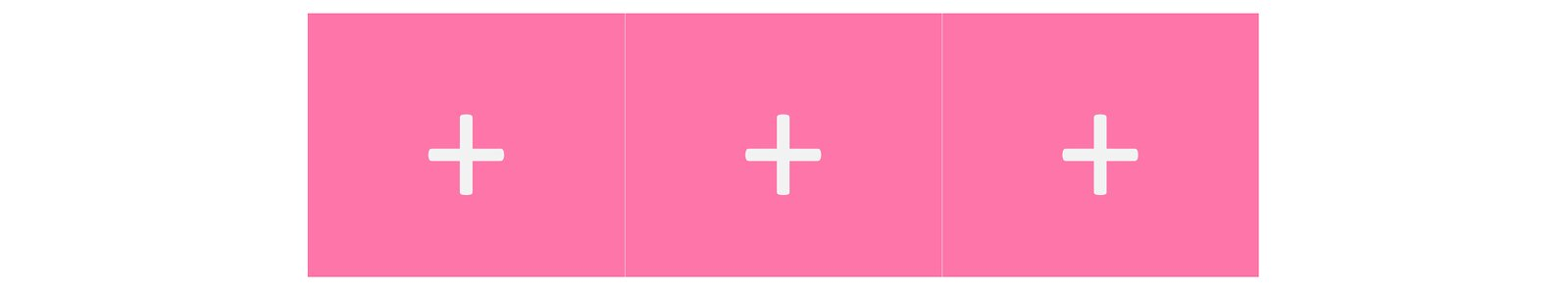 A pink block followed immediately by another pink block followed immediately by another pink block.