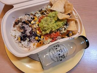 G&G Burrito Bowl and Lychee Kefir
