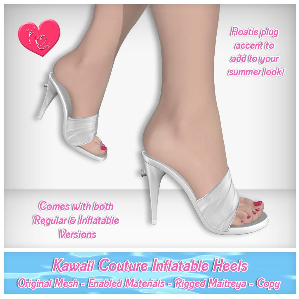 Kawaii Couture – Inflatable Heel Ad White