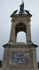 The empty Francis Scott Key monument