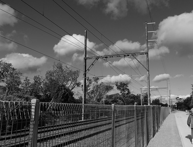 Overhead rail structures in Seaford VIC
