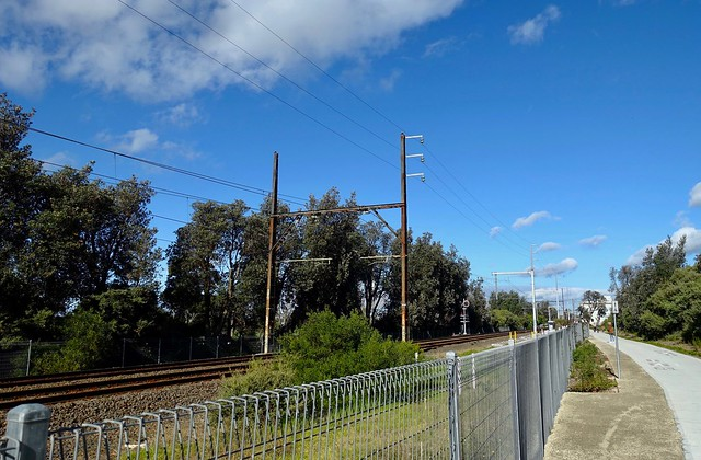 Old Rail Stanchion at Seaford VIC