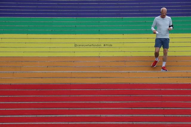 Pride Stairs, Canary Wharf