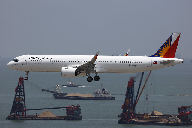 RP-C9937, Airbus A321Neo, Philippine Airlines, Hong Kong