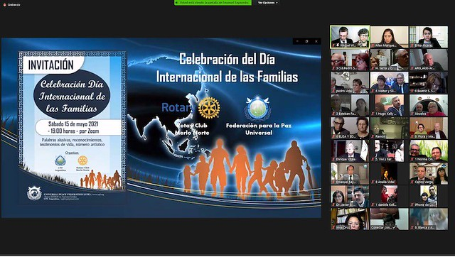 Argentina-2021-05-15-UPF-Argentina Honors International Day of Families With the Rotary Club