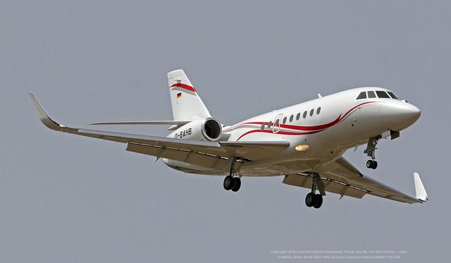 D-BAHB LMML 20-06-2021 MHS Aviation Dassault Falcon 2000LX CN 230