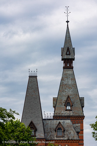Sage Hall spire at Cornell University