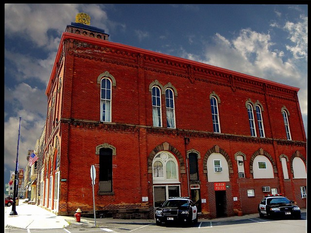 Pratt Opera House, 114-120 North Main Street, Albion, Orleans County, NY - Restored