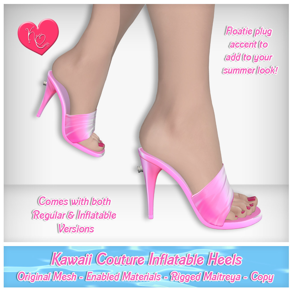 Kawaii Couture – Inflatable Heel Ad Pink