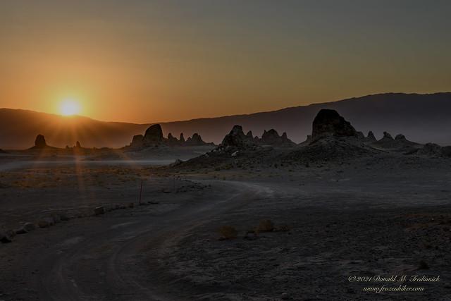 Desert Sunrise - Trona Pinnacles