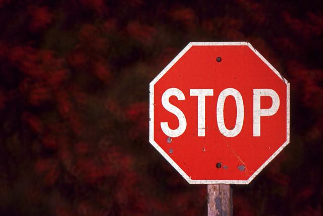 STOP - Ontario, Canada - November 1986