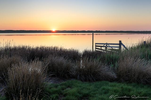Sonnenuntergang am Salzensee