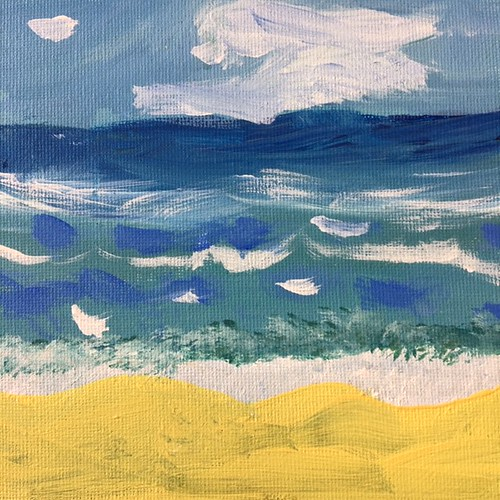 Year 4 Summer Artwork - Seascapes and the Egyptians