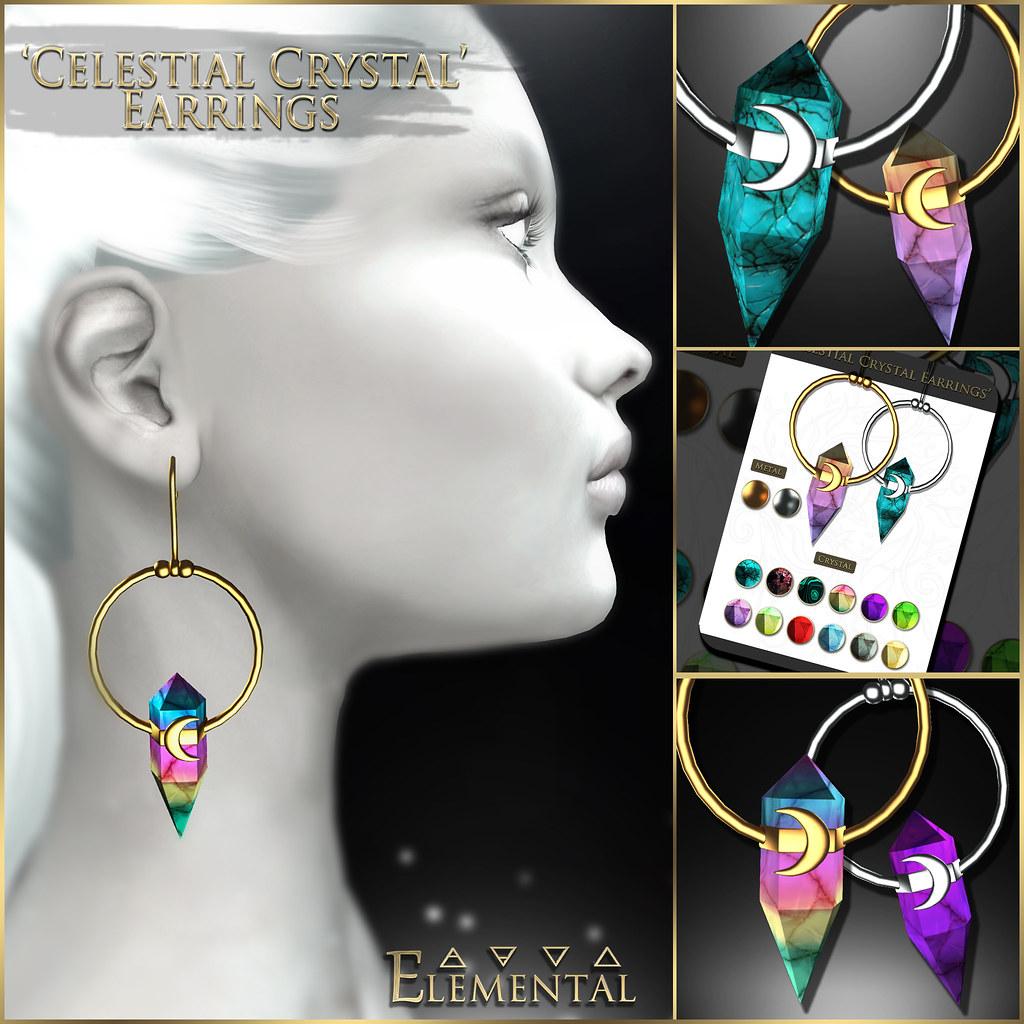 - ELEMENTAL - 'Celestial Crystal' Earrings Advert