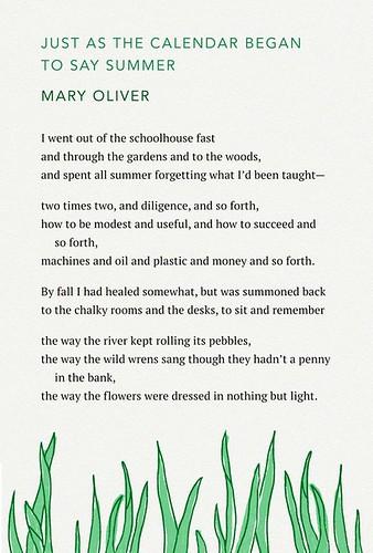 MaryOliver Summer
