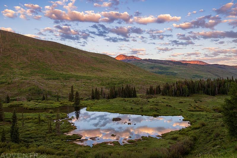 North Fork Tarn Reflection