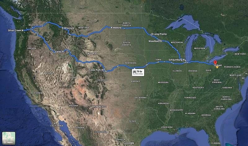 Google Map of PNW Trip