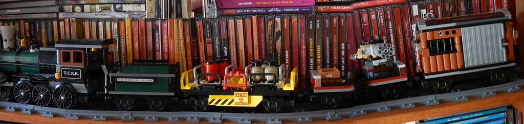 Lego 79111 Disney Lone Ranger Constitution Train pano