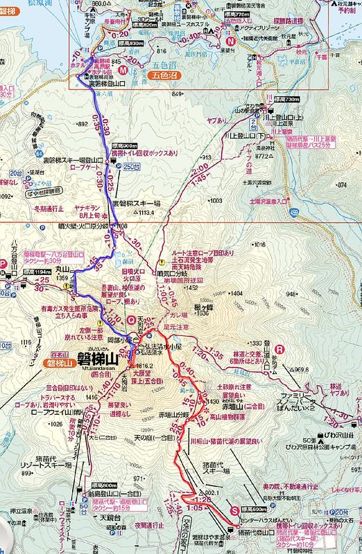 磐梯山の地図