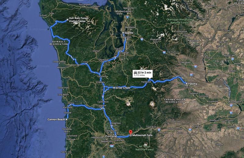 Google Map of PNW Detail
