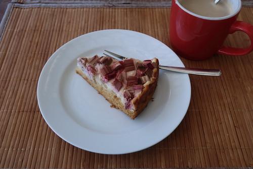 Honig-Rhabarber-Quark-Kuchen (mein erstes Stück vom Rest)