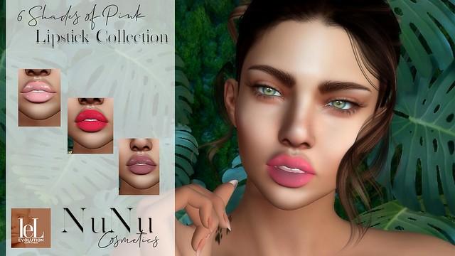6 Shadesof Pink Lipstick colors