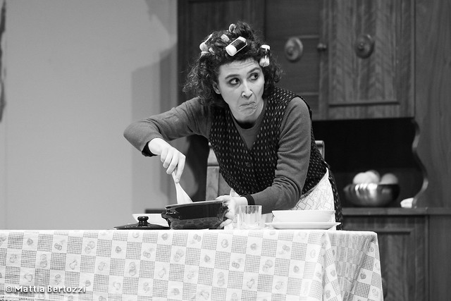 Maria Cristina Pippo on stage for a comedy in dialect