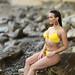 Kirsten yellow bikini