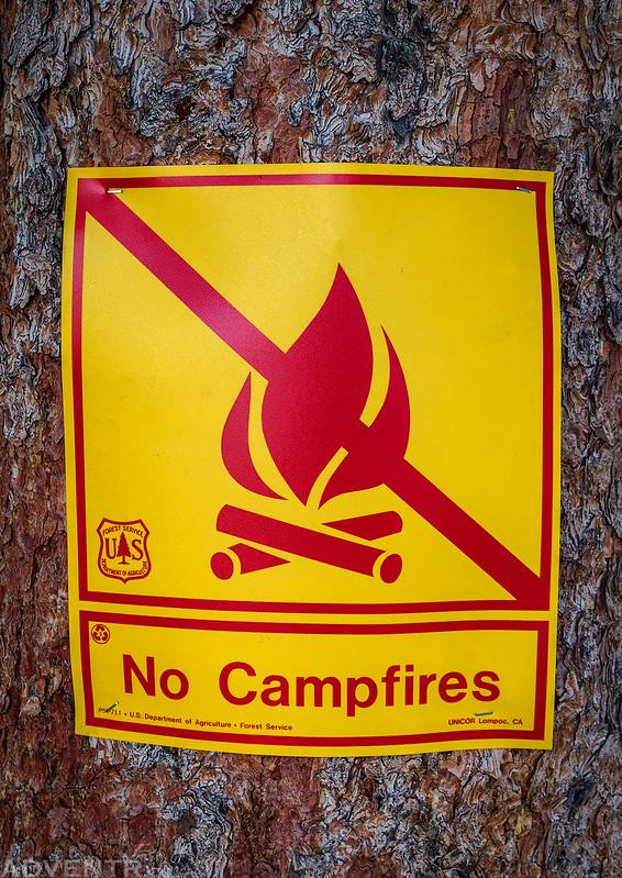 No Campfires!