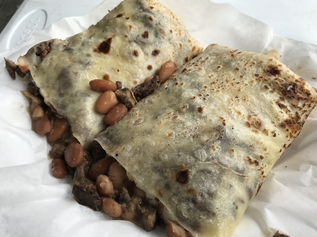 Carne asada sobiquera from El Ruso food truck