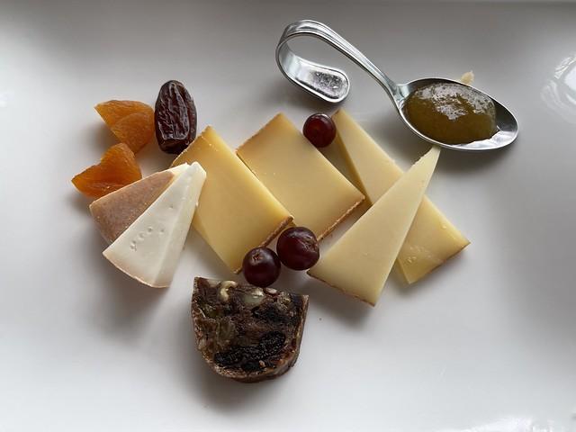 Cheese plate, Hotel Saratz, Pontresina, Switzerland