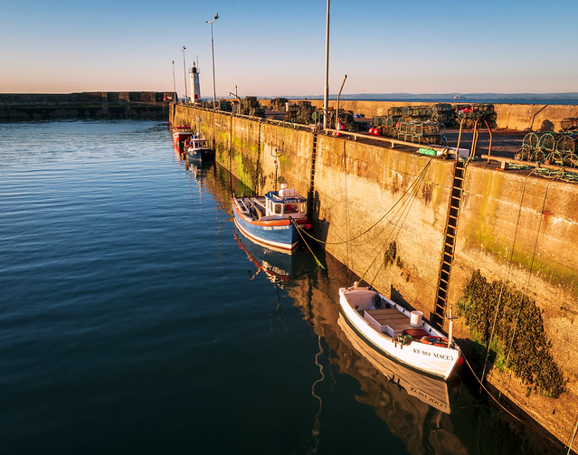 Small Fishing Boats,Sunrise,Anstruther Harbour, Anstruther, Fife, Scotland, UK