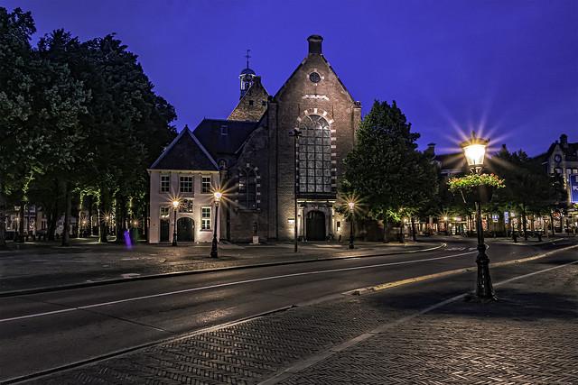 Blue hour Janskerkhof Utrecht