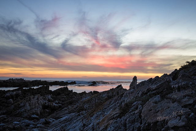 Blue Hour on the Rocks - Onrus - South Africa 2013