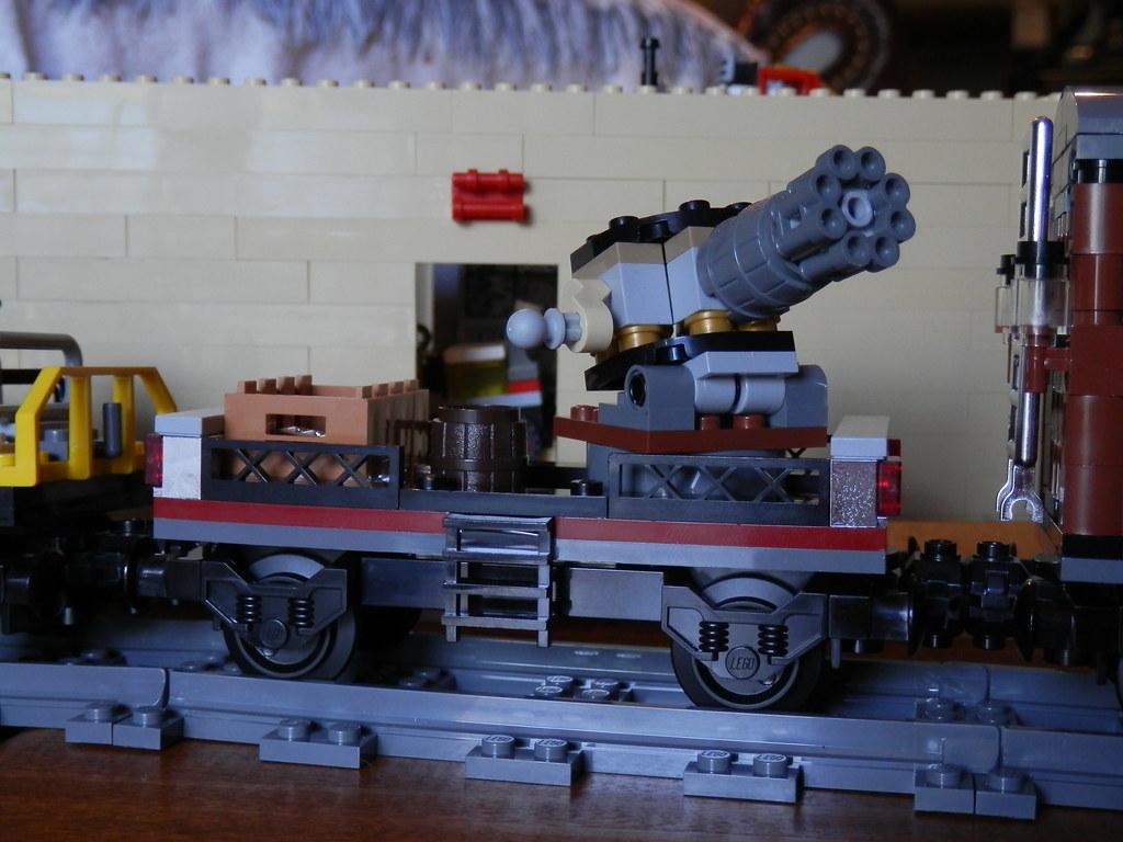 LEGO Disney Lone Ranger Constitution Train  gattling gun car