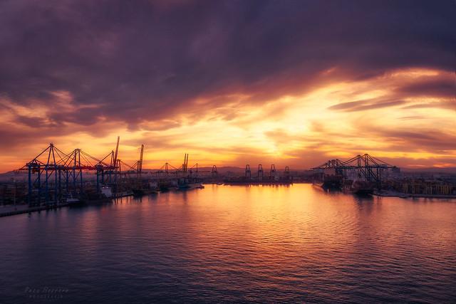 Valencia Port Sunset