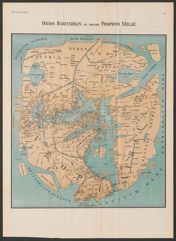 Ancient map - Orbis Habitabilis Ad Mentem Popmpnii Mela