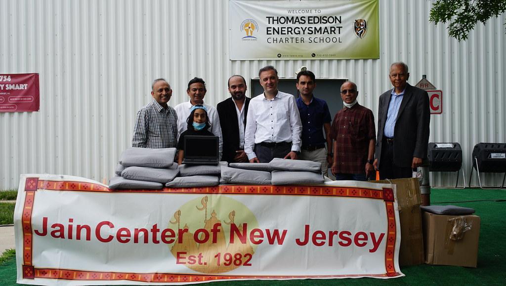 Jain Center of New Jersey donation of 50 Chromebooks to TEECS