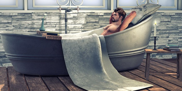 #428 - relaxing in my bathtub