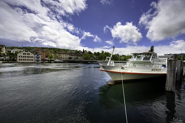 Shipping pier in Schaffhausen - Switzerland