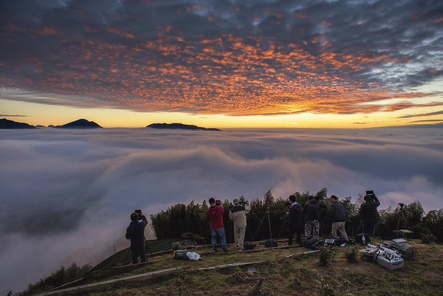 大崙山 雲海夕陽