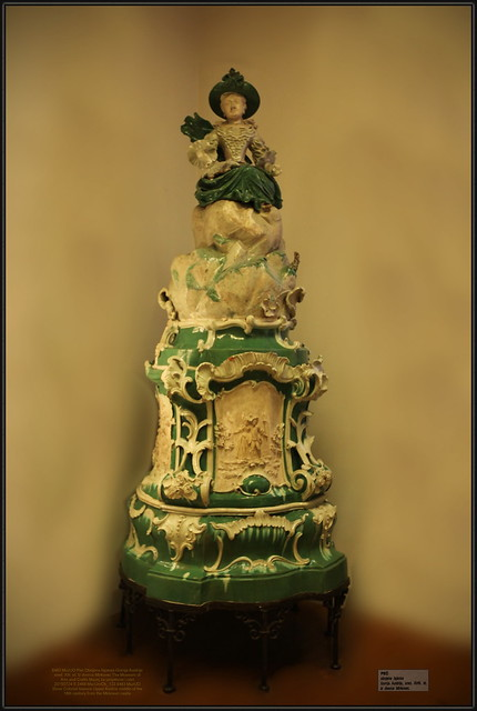 Stove Colored faience Upper Austria middle of the 18th century from the Mirkovec castle