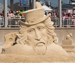 Hampton Beach Sand Sculpture Contest - Poker Face
